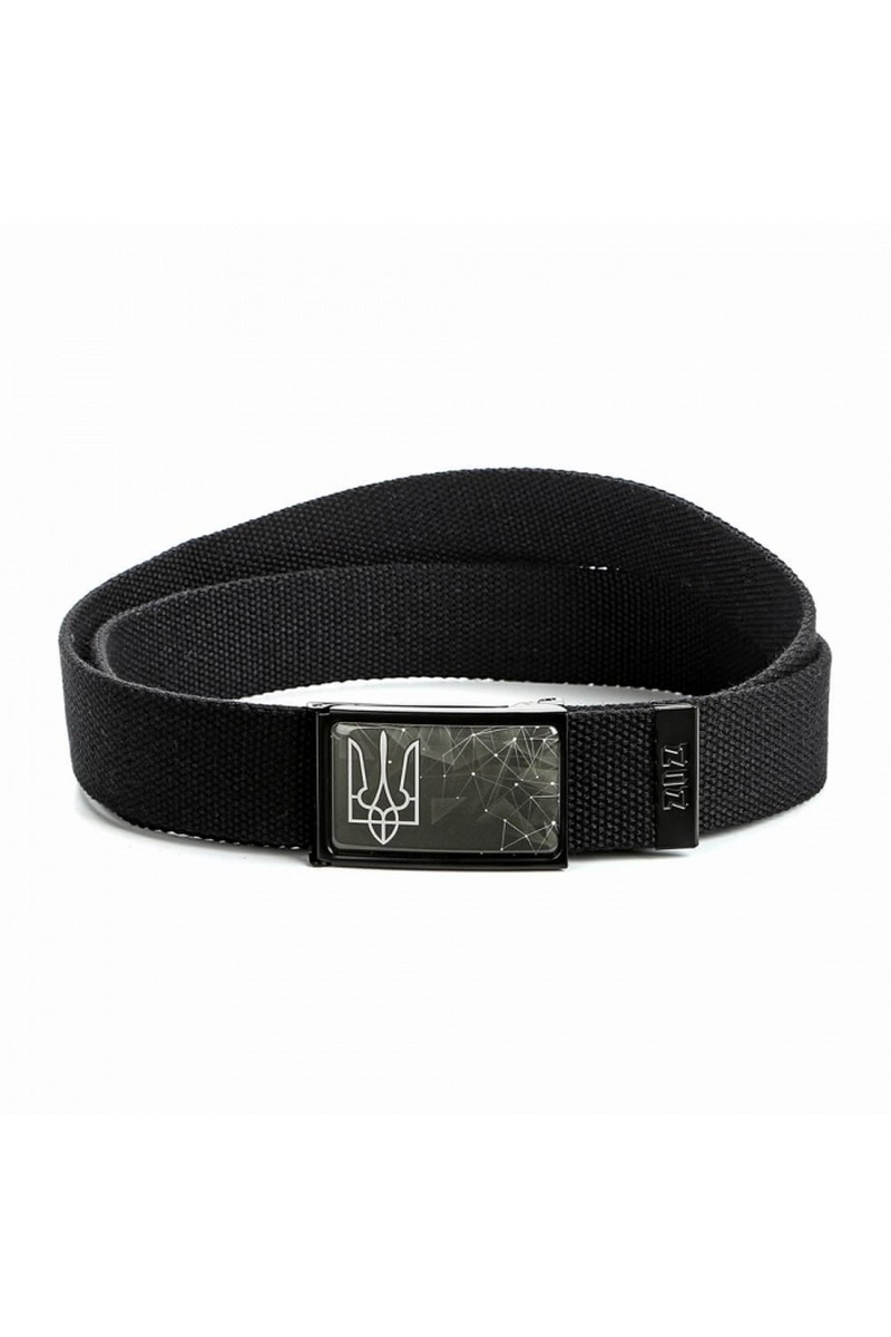 Buy Ukrainian Trident/Tryzub, Black Ukrainian style belt, Ukrainian accessories