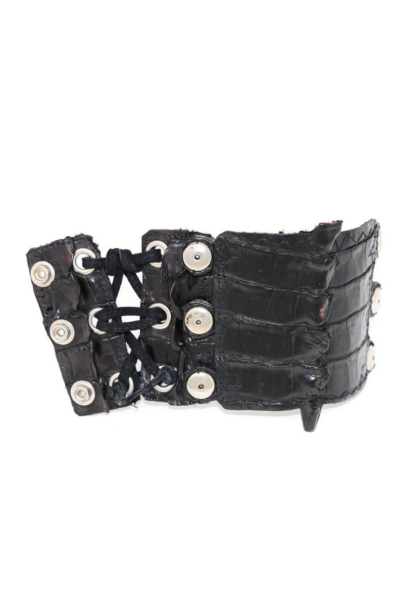 Buy Black/Red Rockstar Braided Leather Wristband, Alligators Way Rocknroll accessories