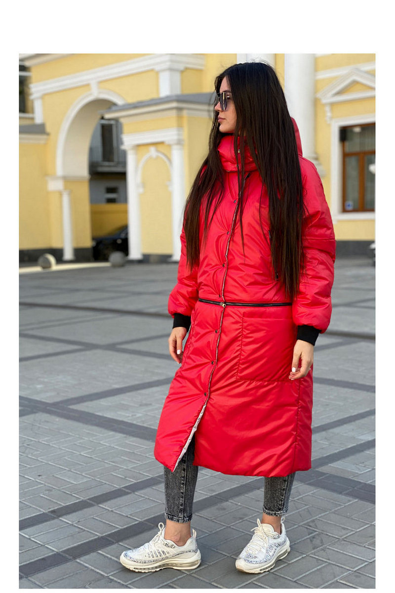 Buy Women's Hooded Red Blue Grey Long Down Coat Maxi Down Parka Puffer Jacket