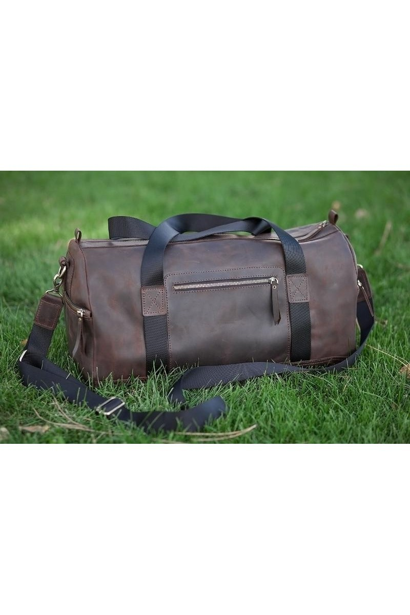 Buy Rectangular Leather Sport Brown Travel Women Men's Bag, Comfortable design bag