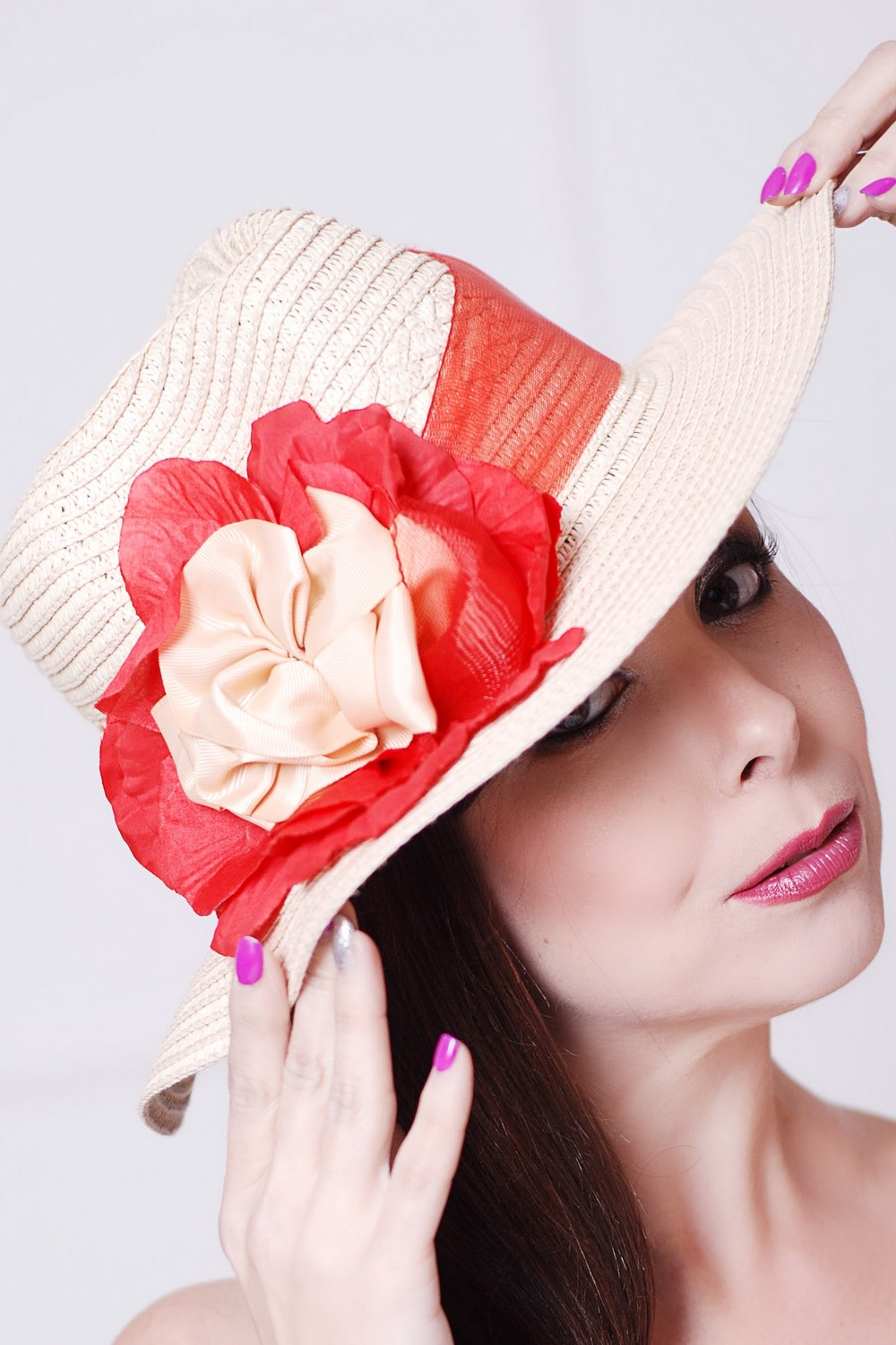 Buy Beach fedora hat, Summer women's straw hat in retro style, Unique stylish hat for the holiday