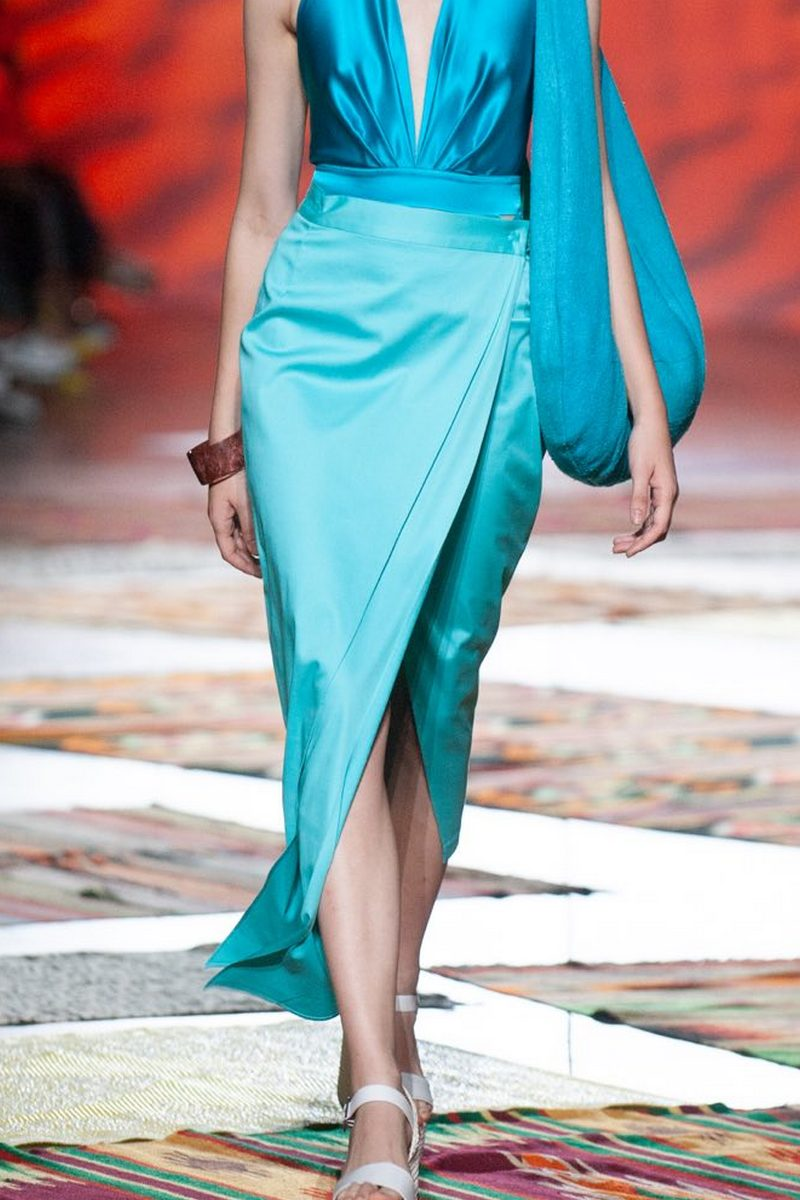 Buy Cotton blue smell asymmetric skirt, midi straight design casual elegant skirt