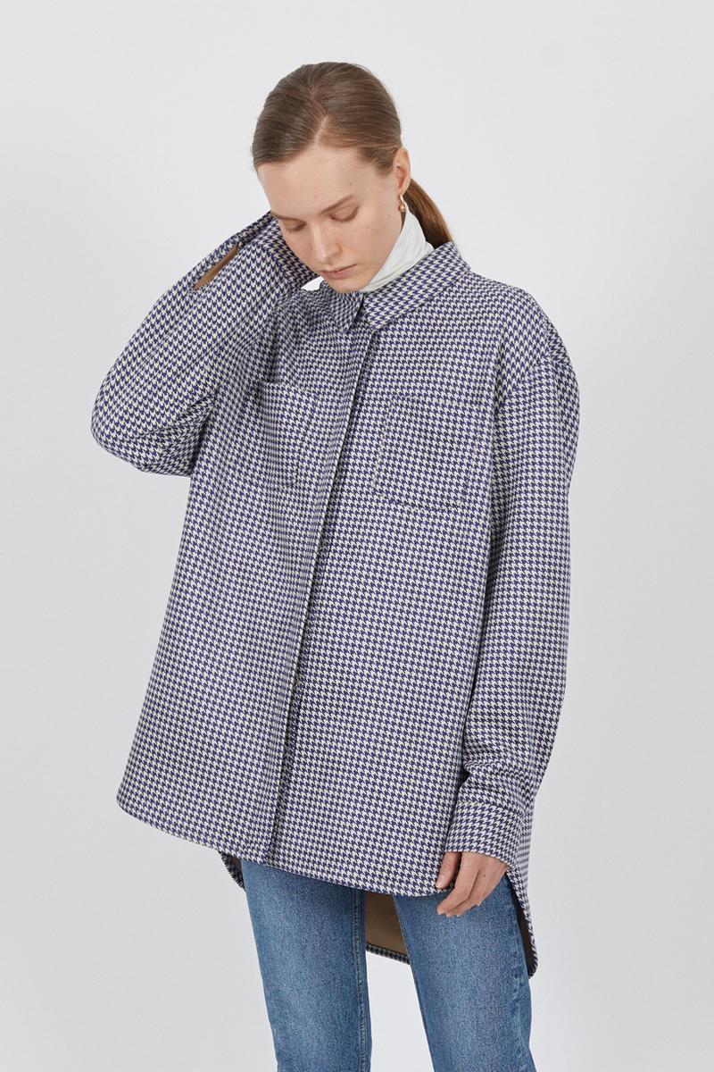 Buy Loose asymmetrical comfortable shirt, plus size women casual shirt
