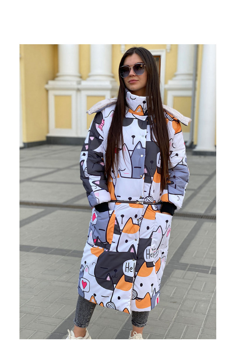 Buy Women's Printed Down Coat Lightweight Plus Size Puffer Jacket Hooded Warm Outdoor Sports Travel Parka Outerwear
