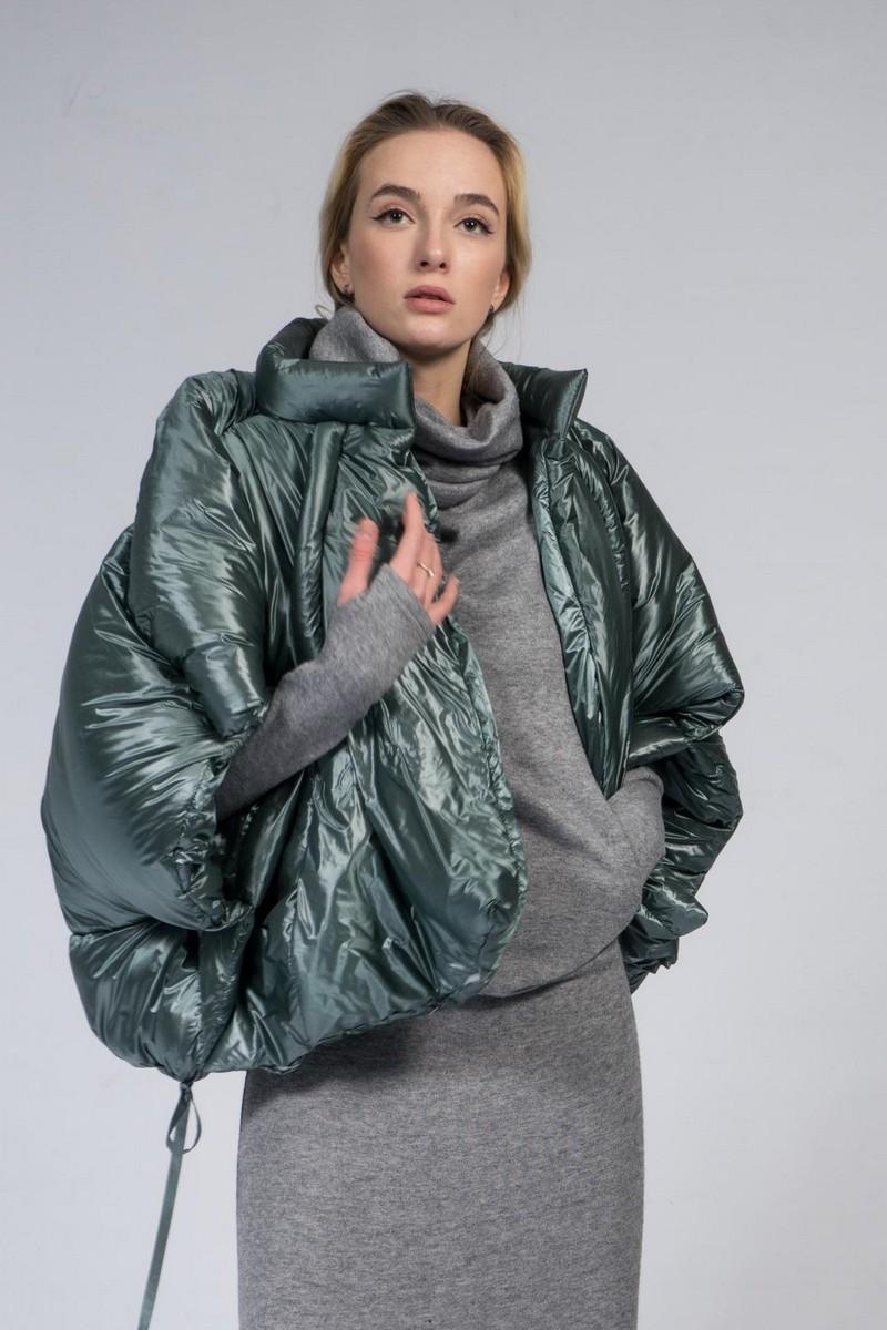 Buy Warm stylish mint loose downjacket, short oversize comfortable winter women coat
