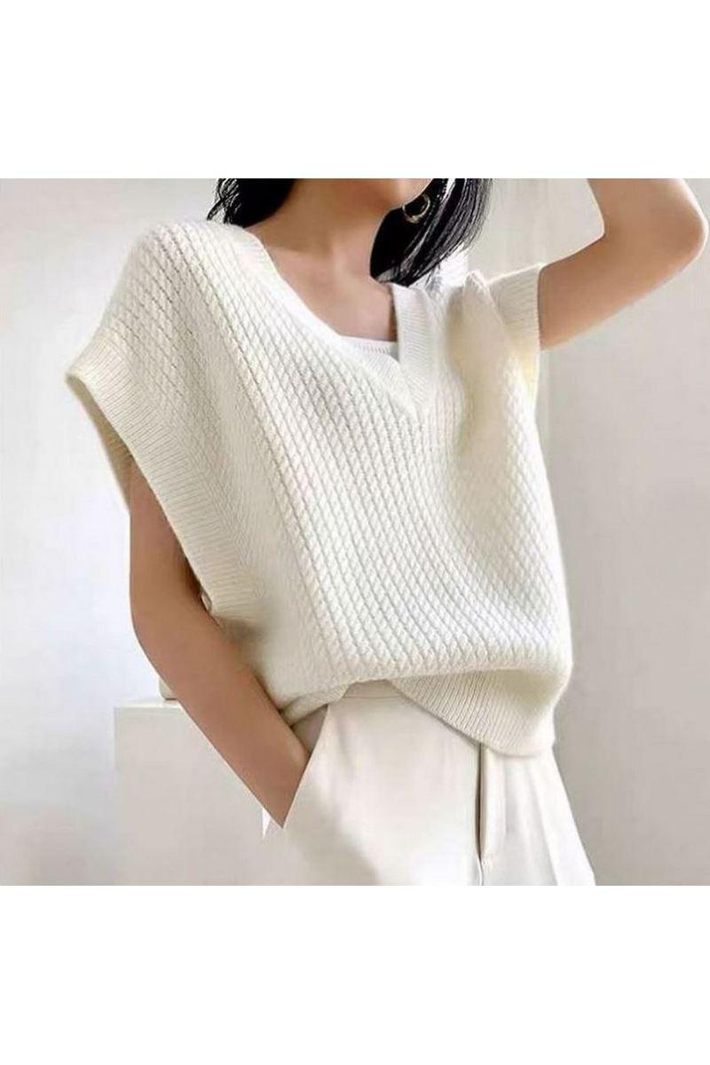 Buy White Women Loose Warm Rabbit Wool Oversized Vest Sweater Coat Women Gilet Sleeveless