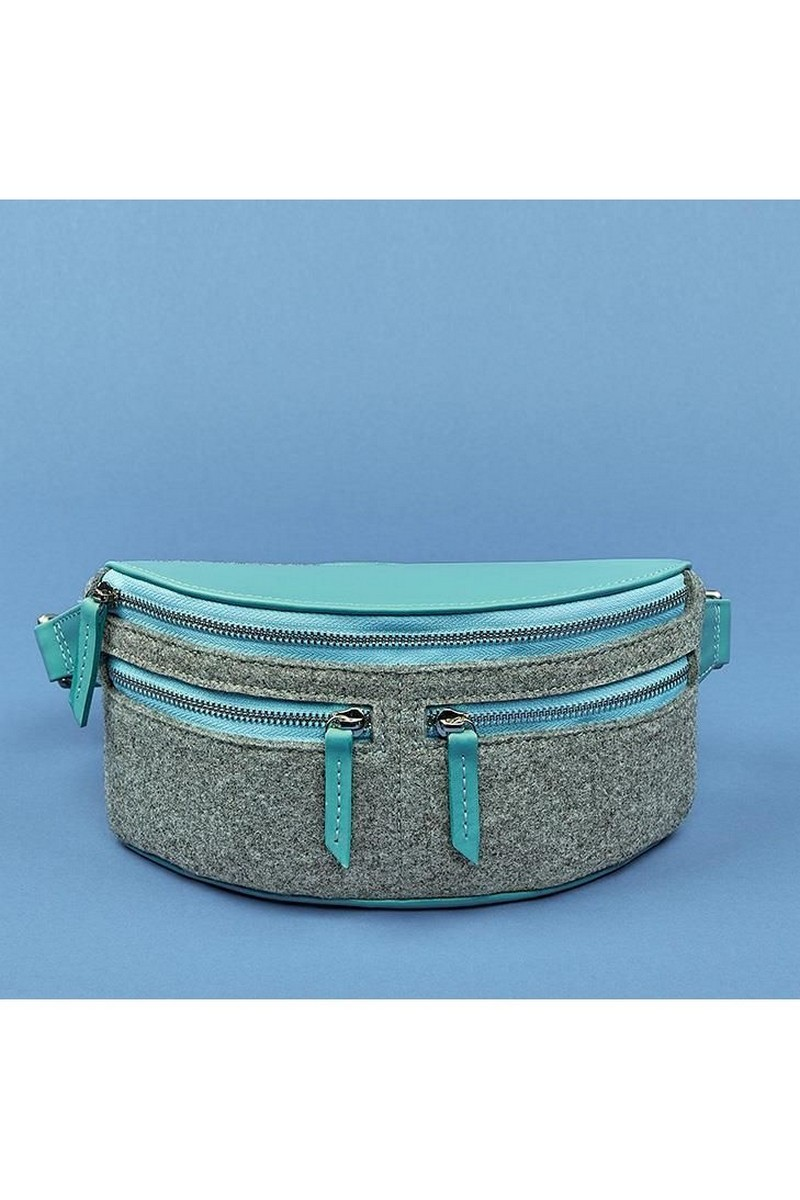 Buy Belt grey Felt stylish Scandinavian bag, design women bag