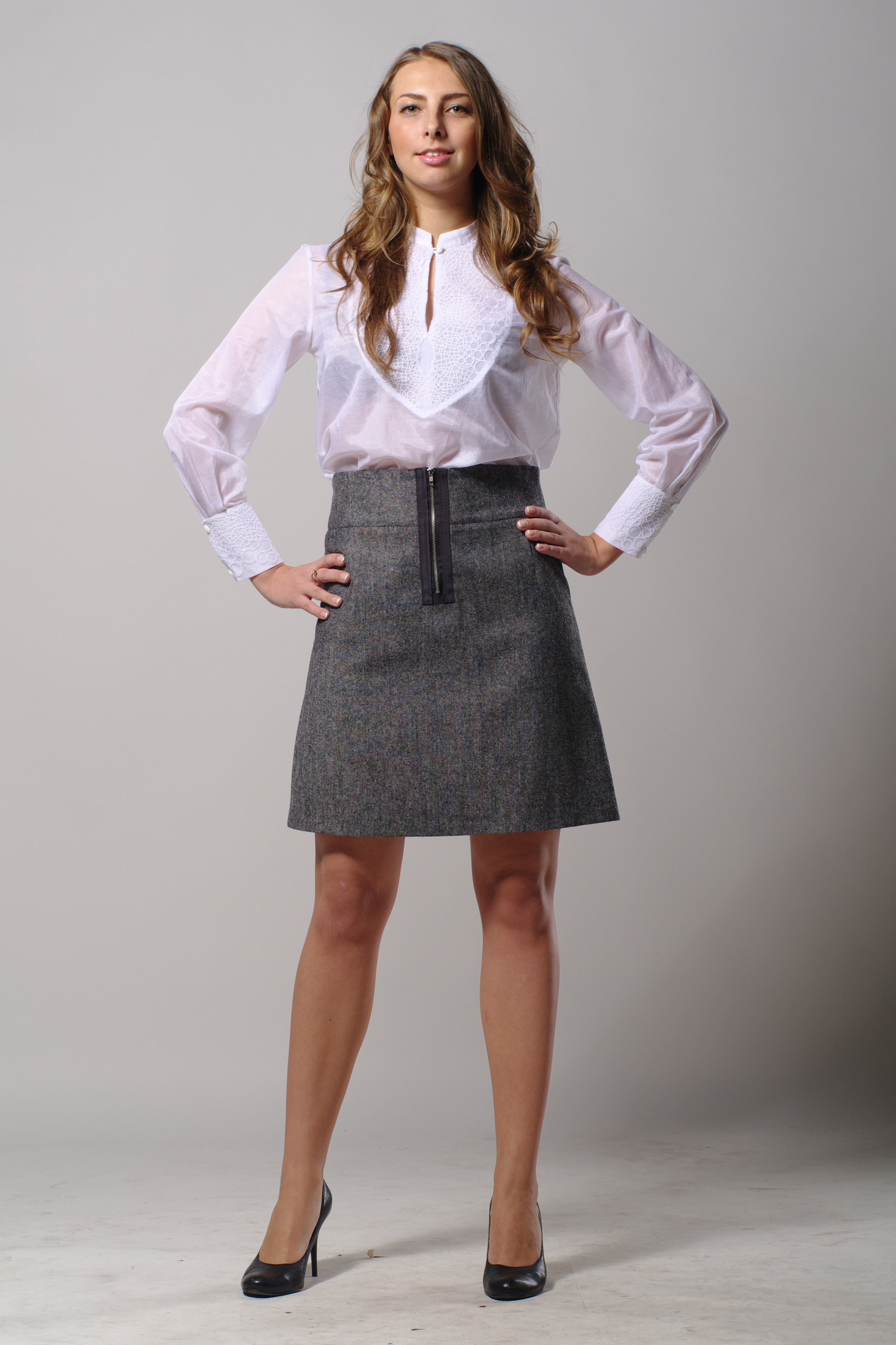 Buy Women's Gray Tweed Skirt