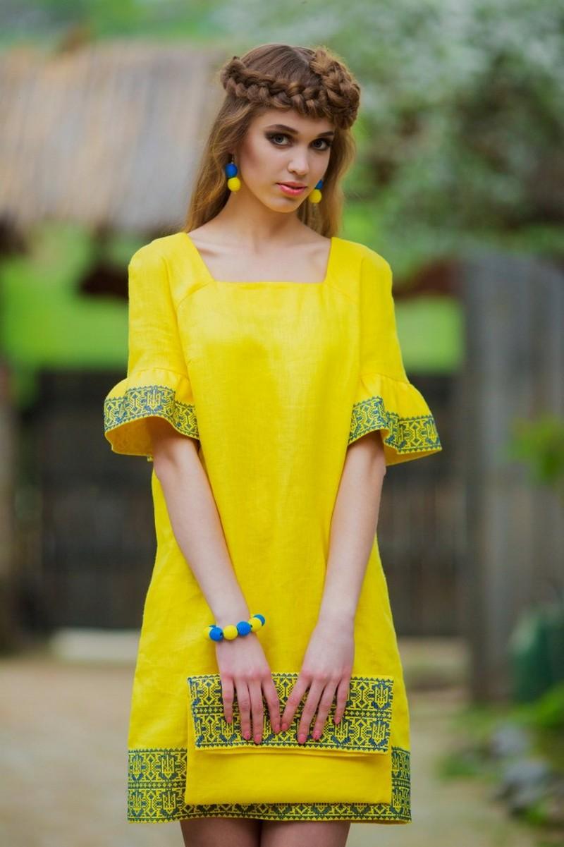 Buy Women's Ukrainian ethnic unique boho vyshivanka dress, Summer linen comfy dress