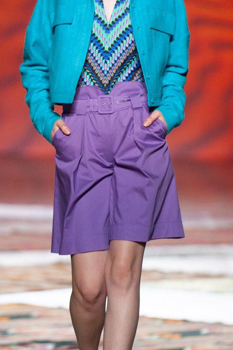 Buy High waist shorts cotton purple, High waist shorts purple casual women designer shorts
