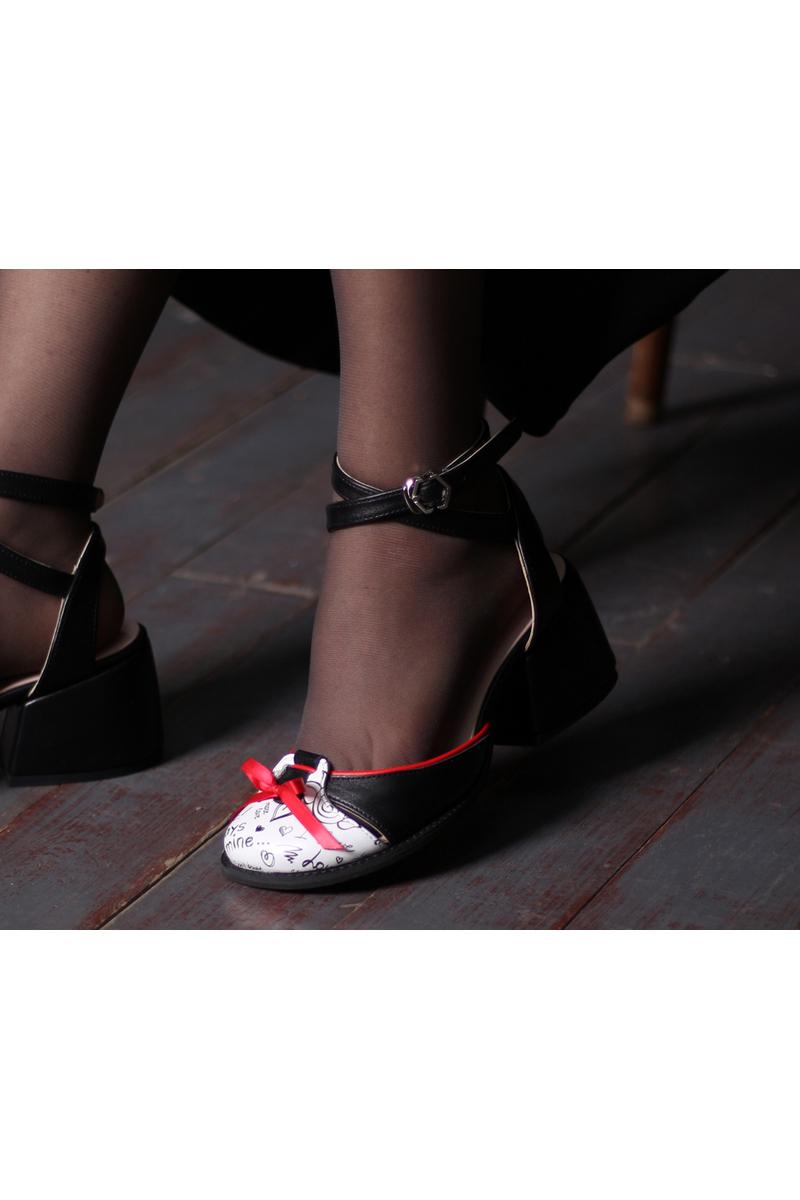 Buy Sandals Closed Toe Black Leather Straps Heel, handmade unique design shoes