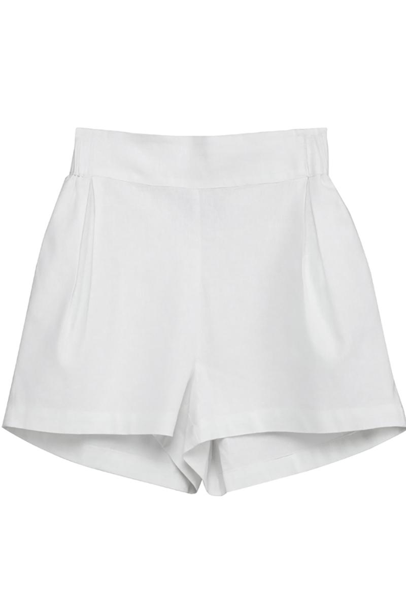 Buy White linen women short shorts, Comfortable casual stylish shorts