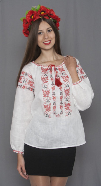 Buy Ukrainian women's cotton embroidered blouse vyshivanka