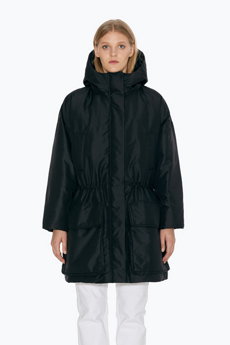 Buy Warm winter parka comfortable women hood stylish windproof fabric downcoat