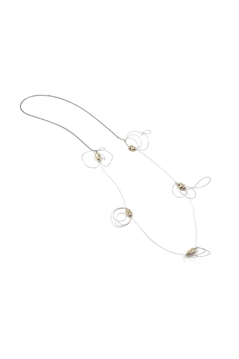 Buy Stainless Steel Handmade Bean Beaded Necklace for Women Teen Girls 39 Inch Chain Made in Great Britain