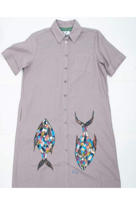 Buy Lilac Casual Women Cotton Boho Hippie Print shirt dress , Unique stylish Short sleeve dress