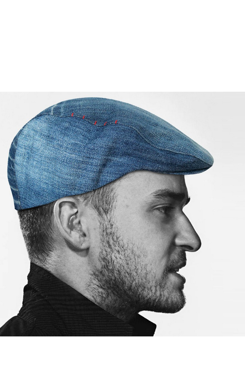 Buy Men Blue Denim Cotton Adjustable Newsboy Beret Ivy Cap Cabbie Flat Cap