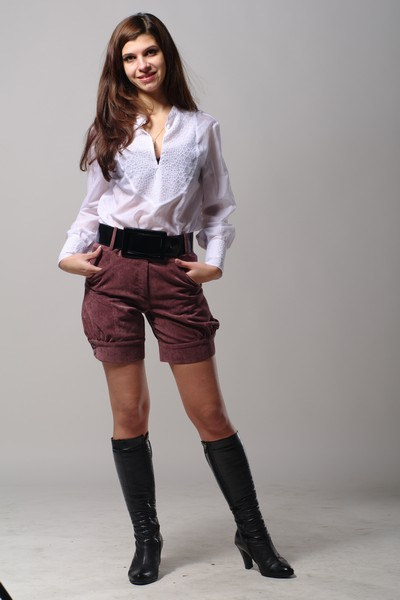 Buy Women's Velveteen Burgundy Shorts