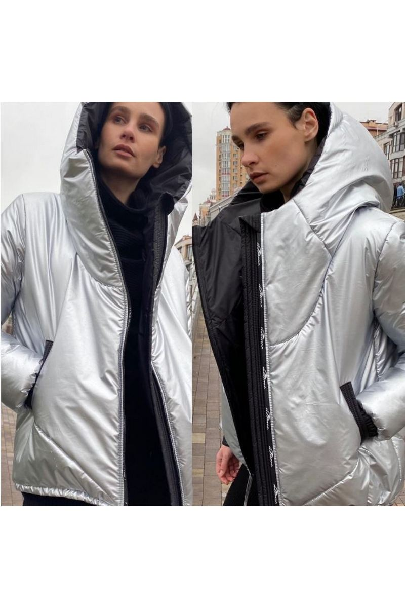 Buy Women's Winter Metallic Fashion Metallic Down Coat Hooded Down Jacket