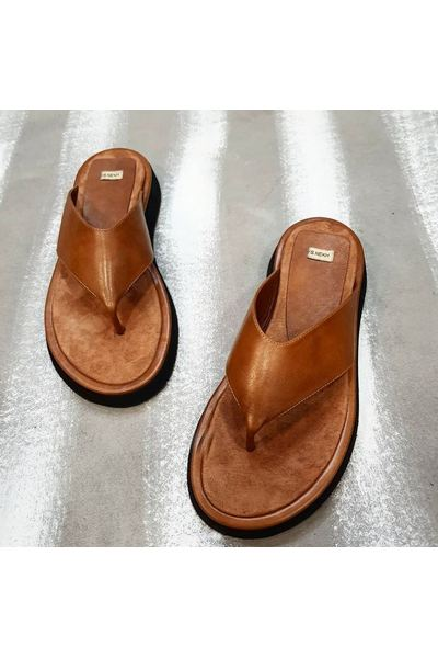 Buy Women's Leather Brown Summer Flip Flop | Casual Comfortable Sandals for Women