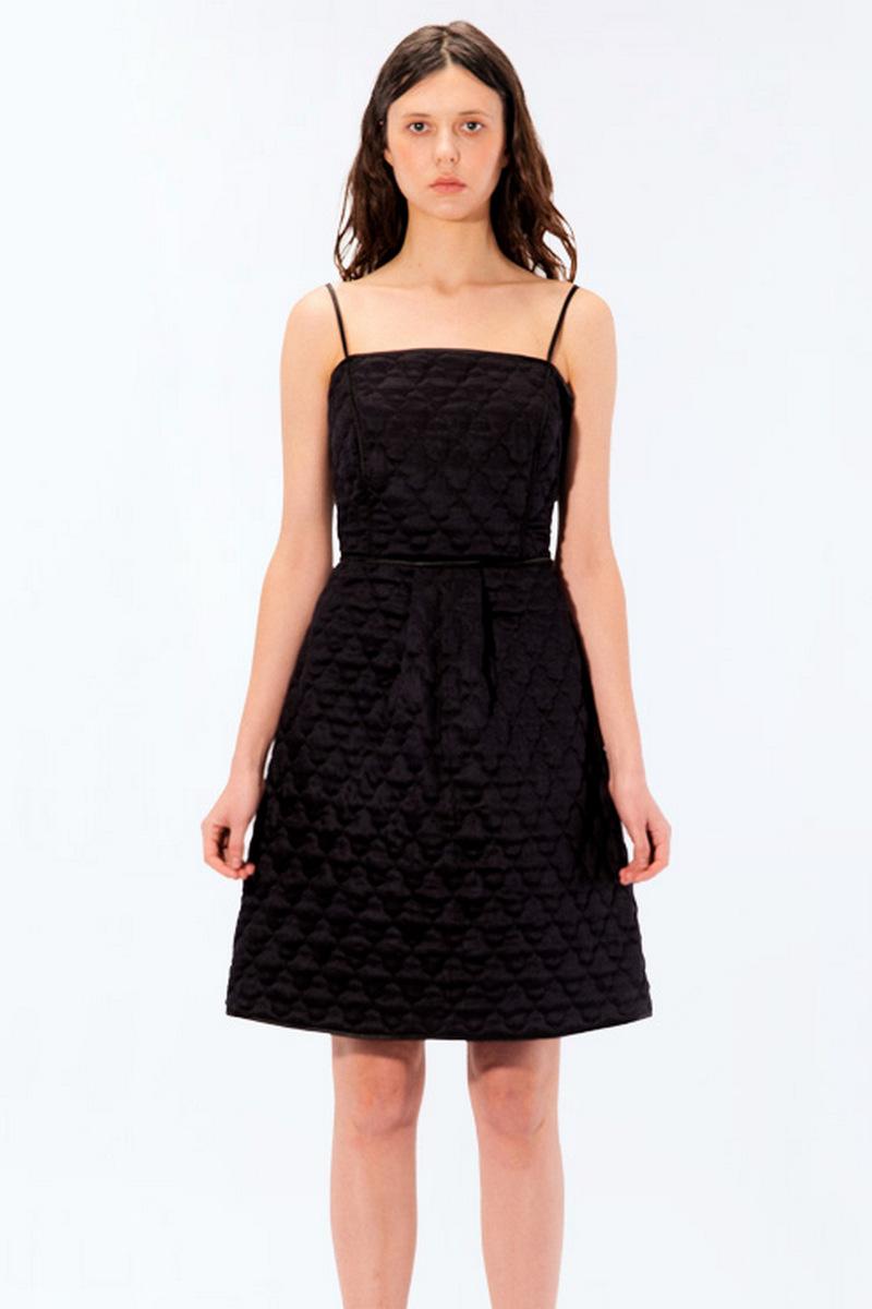 Buy Elegant women little black dress sexy spaghetti strap, viscose zipper on the back