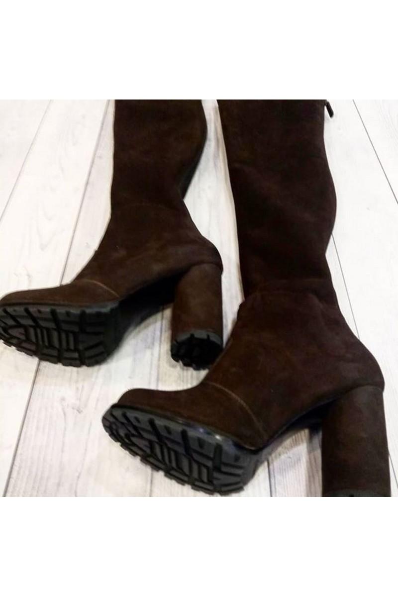 Buy Suede Black Brown High Heel High boots, Handmade unique exclusive designer women boots