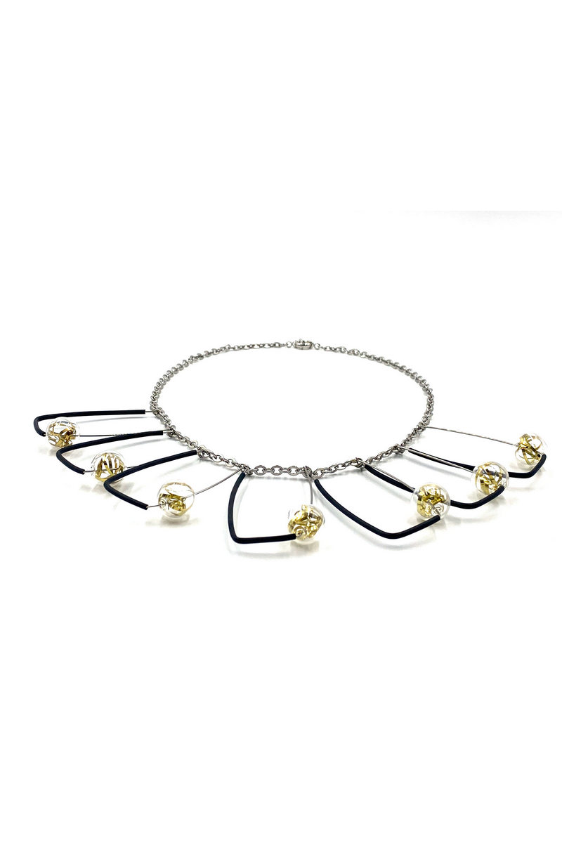 Buy Handcrafted stainless steel chain contemporary unique fashion women necklace
