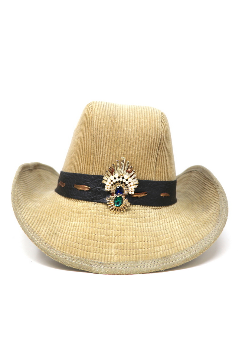 Buy Corduroy Boss of the Plains hat, Beige Cowboy Western Hat