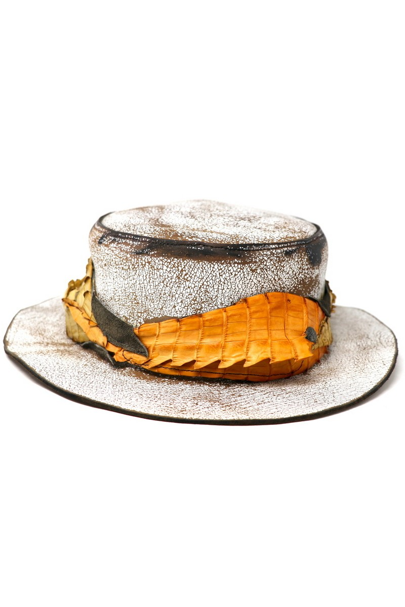 Buy Crocodile Way Outback Hat, Vintage style leather handmade festival party hat