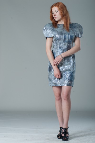 Buy Evening mini brocade dress