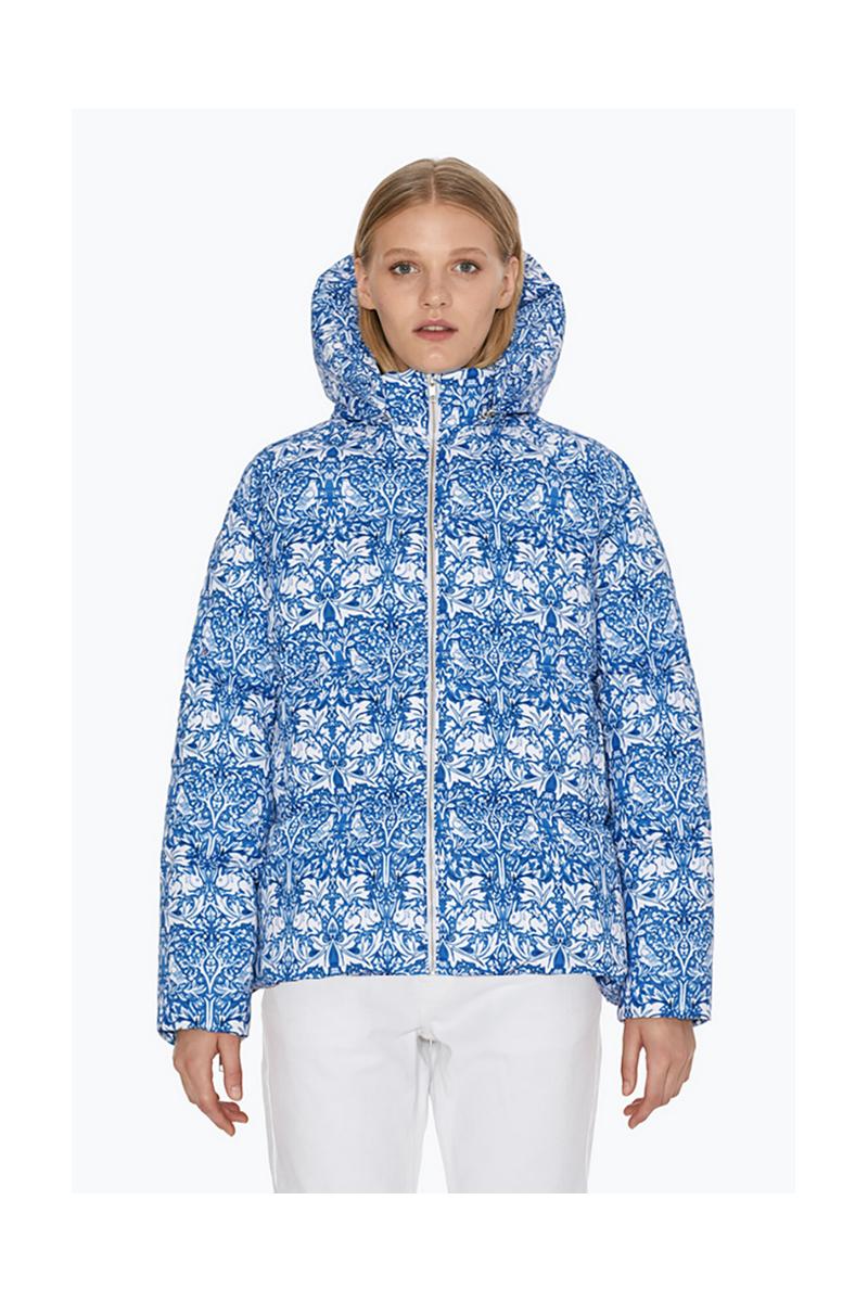 Buy Sport blue white short women warm winter downcoat
