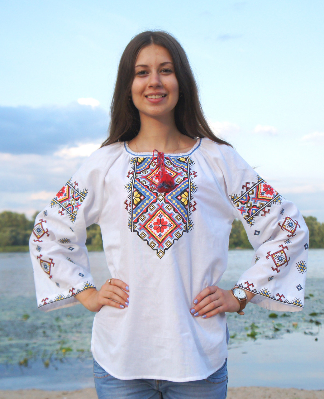 Buy Folk Festival Cotton Ukrainian Vyshyvanka