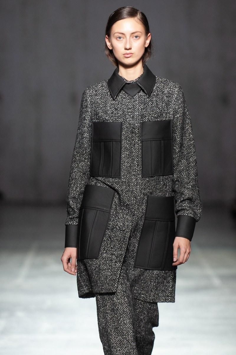 Buy Grey Black Business Warm Combined Women Loose Short Office Outerwear Coat