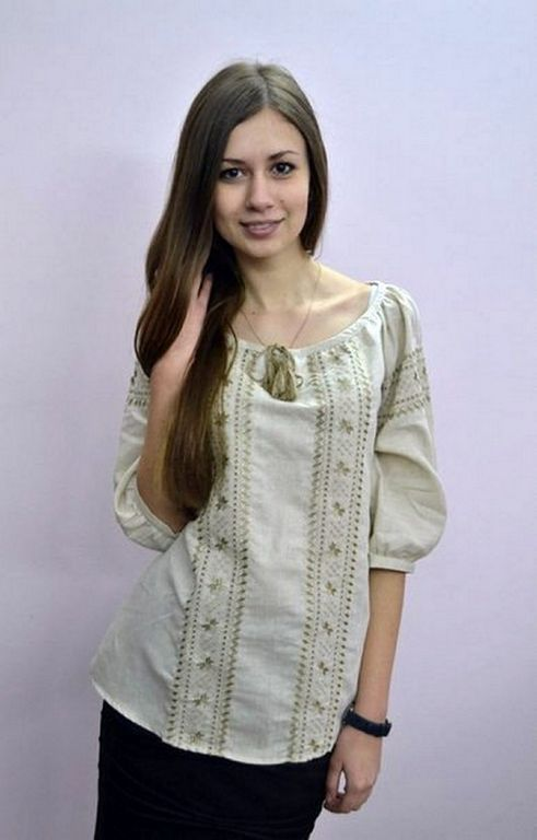 Buy Blouse embroidered (Vyshivanka) ethnic Ukrainian folk