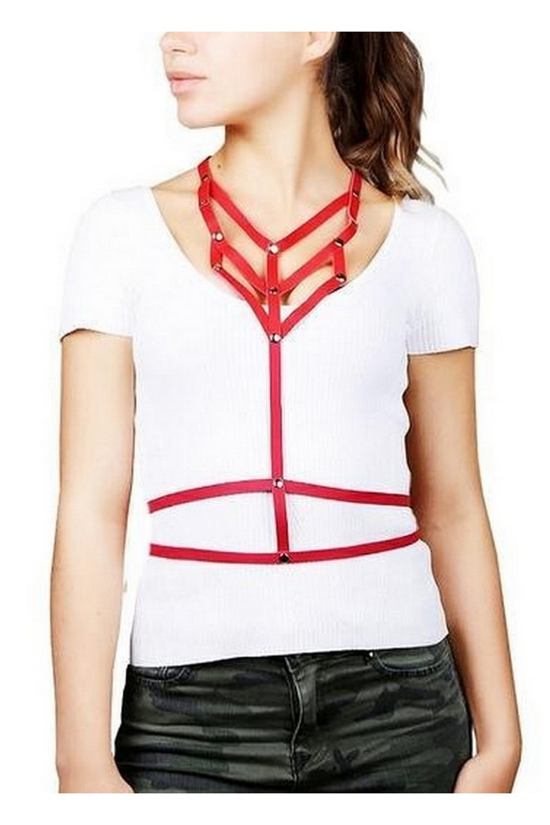 Buy Women's Original Real Leather Belt Necklace, Suspenders Waist belt jewelry