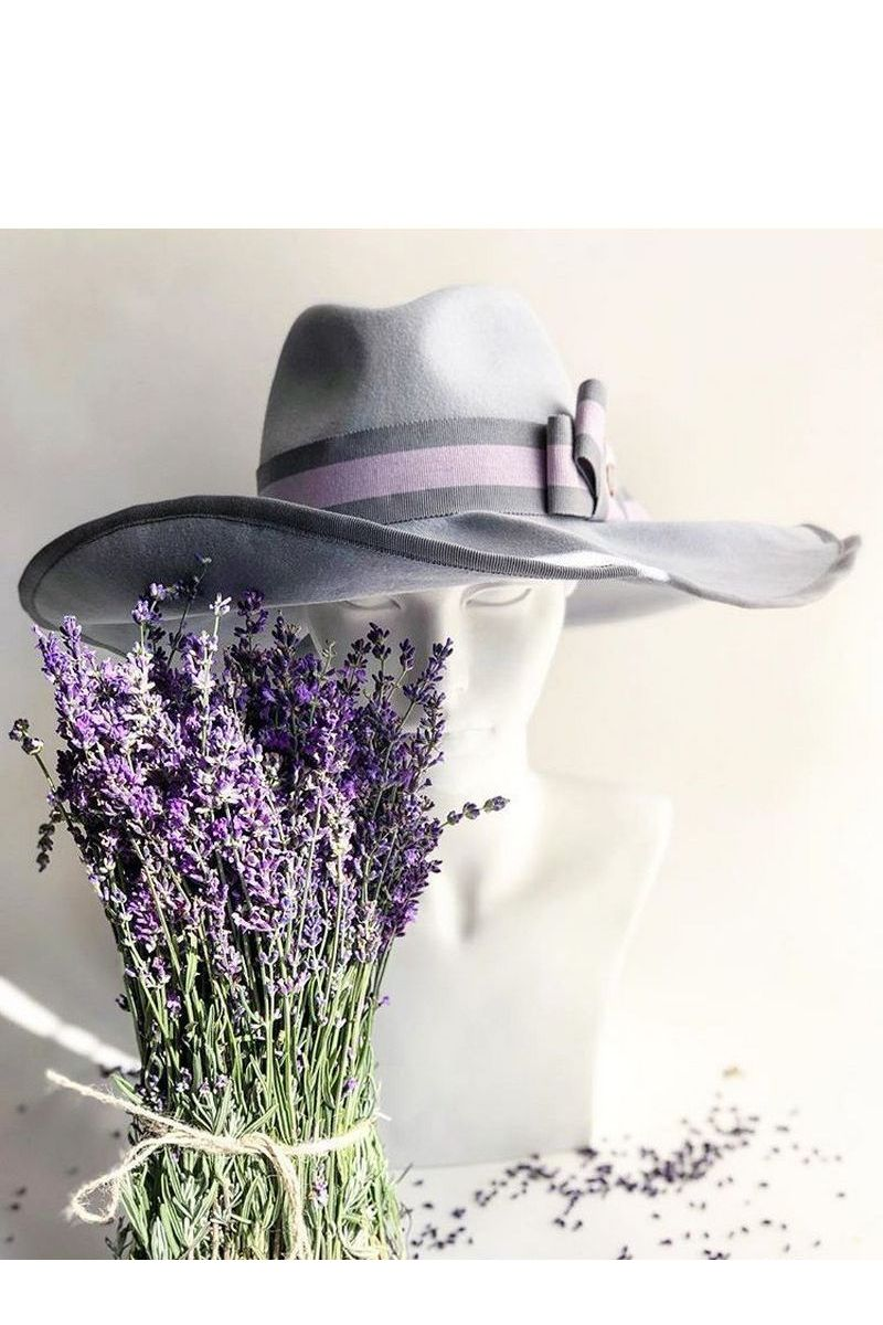 Buy Lilac women`s broad brim felt hat, Unique stylish designer cap for ladies