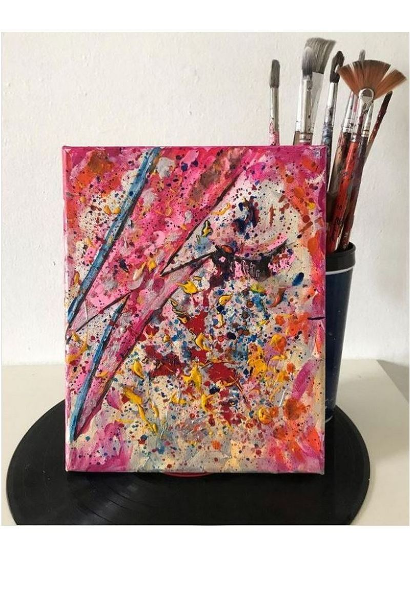 Buy Bowie Abstract Original Acrylic Painting Abstract Wall Art Acrylic Painting on Canvas Hand Painted Modern Picture for Home Decoration