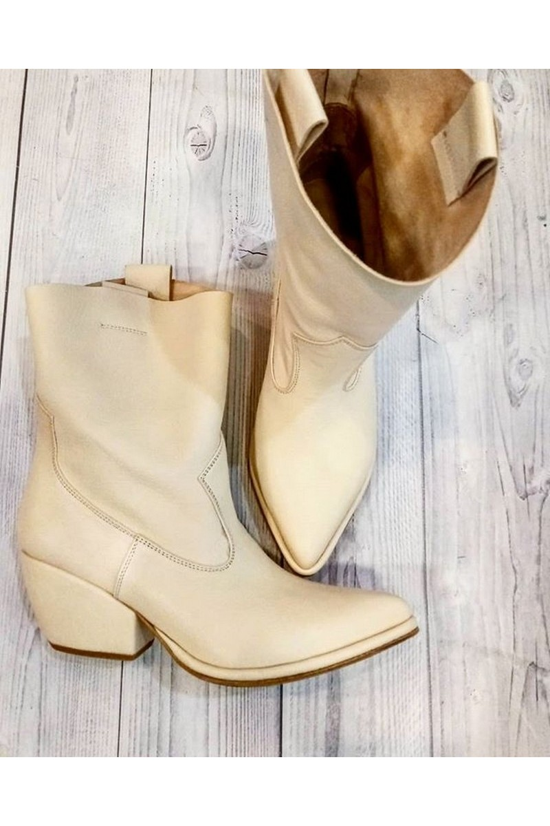 Buy White stylish designer leather women's cowboy boots, Western boots for women