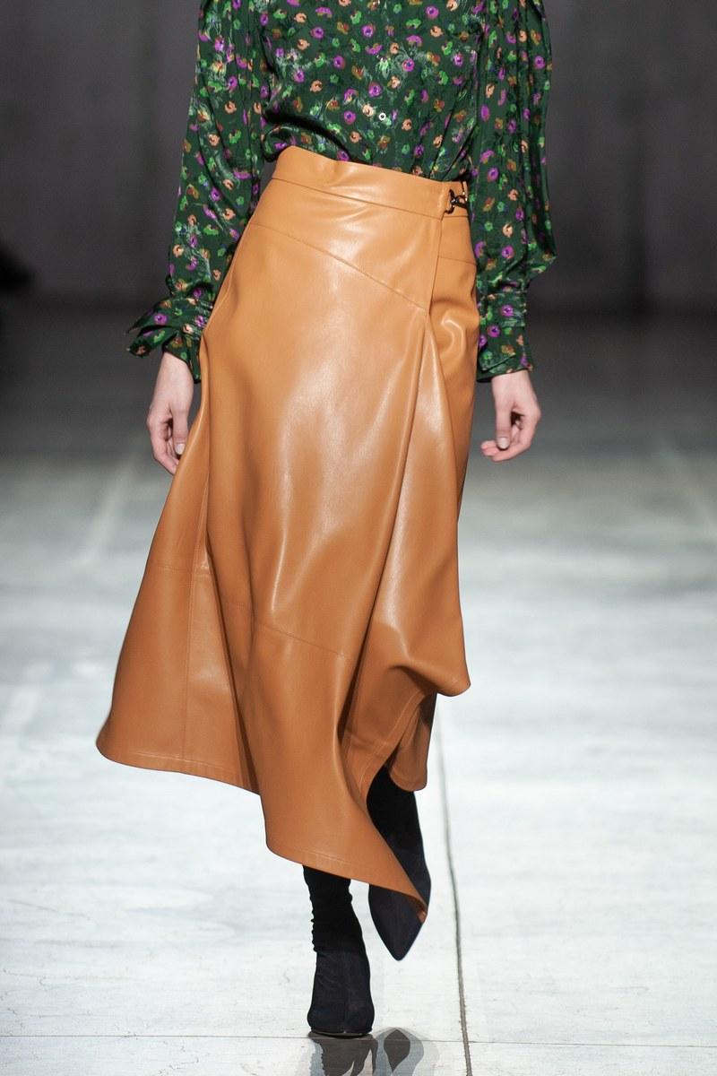 Buy Skirts for Women Beige Leather Midi Skirt Below Knee Length Casual Clubwear