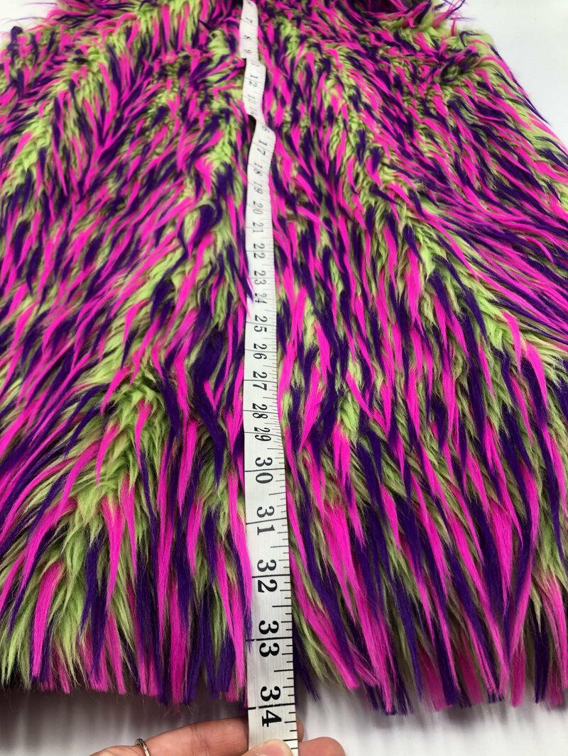 Unisex multicolored fur vest from faux fur soft fur stylish long vest party vest vintage vest old beautiful vest retro style has size-large.