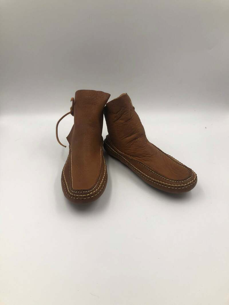 Buy Brown unisex boots from real leather vintage boots short boots casual boots streetstyle boots with drawstring brown color size 10.