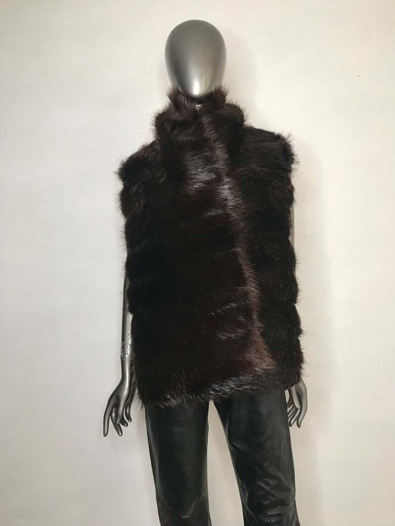 Buy Handmade Nutria Fur Bolero Brown Color vintage festive look warm in form scarf very good condition universal size.