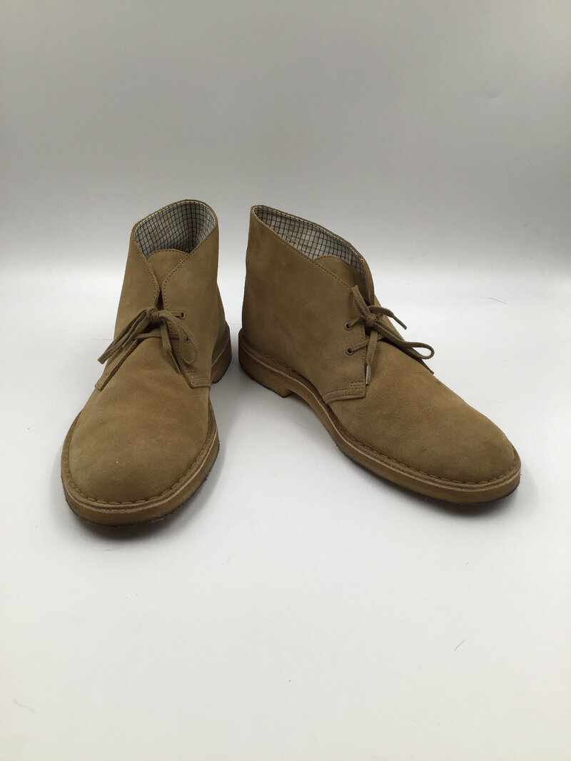 Buy Beige men's shoes from real suede vintage shoes short shoes desert boots streetstyle shoes casual shoes steep shoes beige color has size 13.