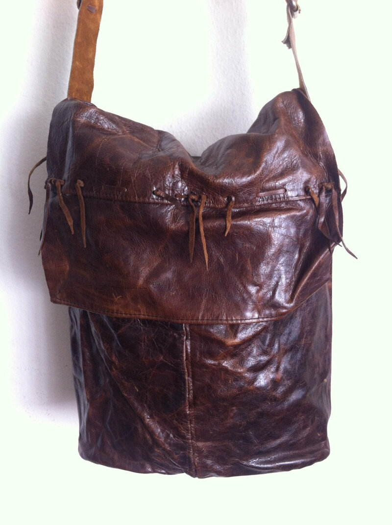 Buy Brown Women's Handbag real leather soft leather fashionable bag recycling leather handmade bag designer bag streetstyle has size large.