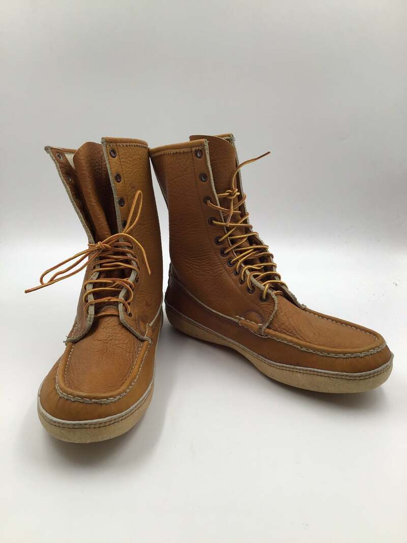 Buy Beige Men's boots real suede soft boots vintage boots winter boots warm boots streetstyle steep boots sporty boots beige color size 11 1/2.