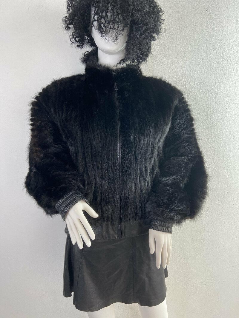 Buy Dark brown womens coat from real mink fur casual coat classical coat warm modern coat vintage coat steep streetstyle coat has size-medium.