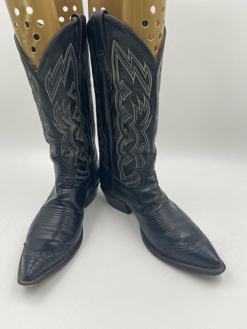 Buy Black cowboy boots men's size 9 1/2