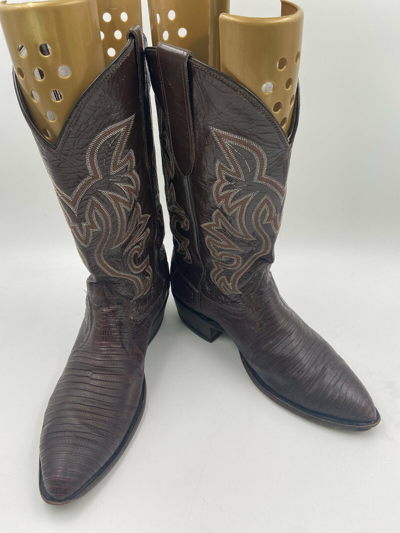 Buy Brown lizard cowboy boots mens size 11